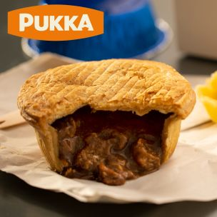 Pukka Wrapped Cooked All Steak Pie-1x12