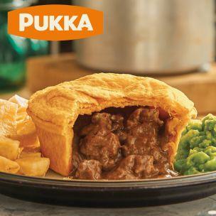 Pukka Wrapped Cooked Steak & Kidney Pie-1x12