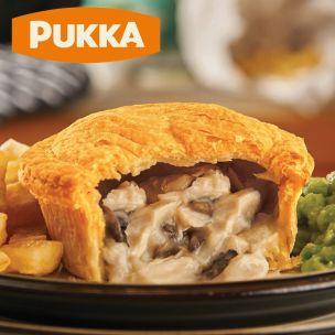 Pukka Unwrapped Cooked Chicken & Mushroom Pie-1x12