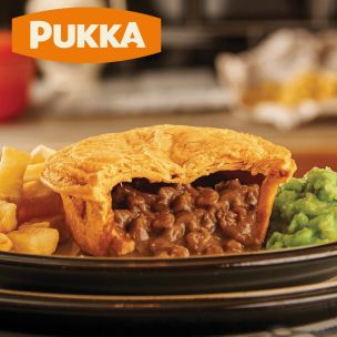 Pukka Wrapped Cooked Beef & Onion Pie-1x12