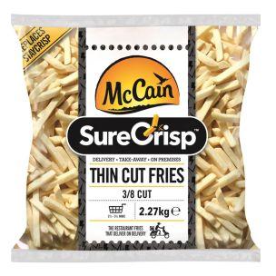 McCain SureCrisp (3/8) Thin Cut Fries 4x2.27kg