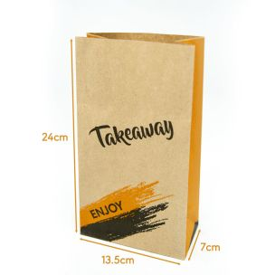 Enjoy R4 Small Brown SOS Bags (135x70x240mm) 1x250