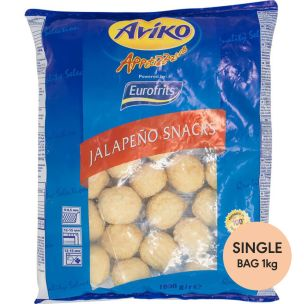 Aviko Green Jalapeno and Cheese Snacks-1x1kg