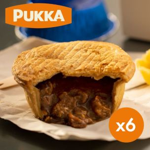 Pukka Wrapped Cooked All Steak Pie-1x6