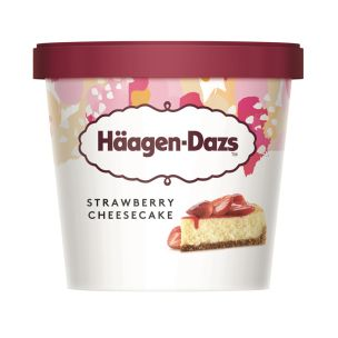 Haagen Dazs Strawberry Cheesecake Mini Cup 12x95ml