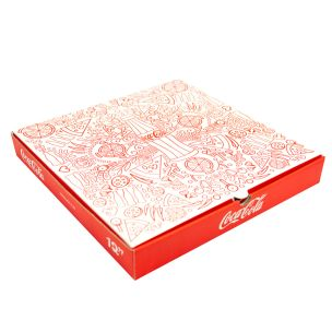 "12"" Premium Coca Cola Pizza Boxes-1x100"