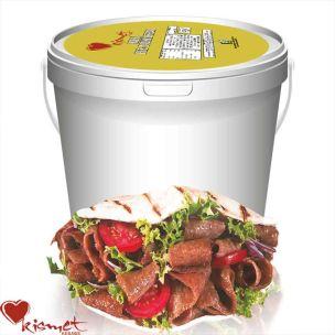 Kismet Premium Halal Cooked & Cut Doner Kebab (Bucket) 1x2kg
