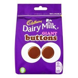 Cadbury Dairy Milk Giant Buttons Chocolate Bag 10x119g
