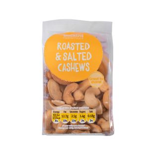 Snacking Essentials Roasted Salted Cashews-12x100g