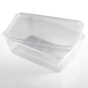 750ml Microwave Plastic Containers with Lids-1x250