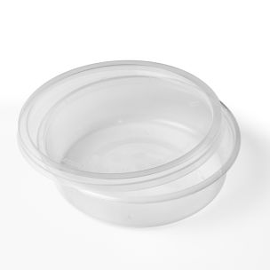 8oz Round Microwave Plastic Clear Cups with Lids-1x250