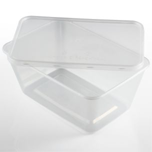 1000ml Microwave Plastic Containers with Lids-1x250