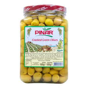 Pinar Cracked Green Olives-1000g