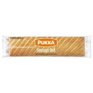 Pukka Wrapped Cooked Sausage Rolls-1x12
