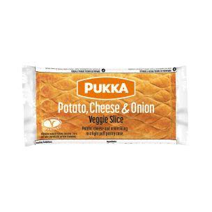 Pukka Wrapped Cooked Potato Cheese & Onion Veggie Slice-1x12