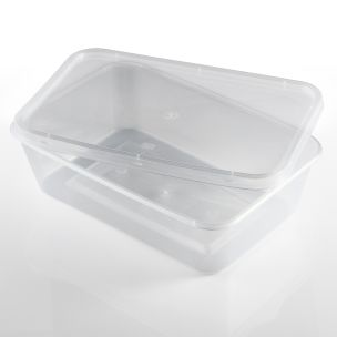 650ml Microwave Plastic Containers with Lids-1x250