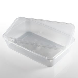 500ml Microwave Plastic Containers with Lids-1x250