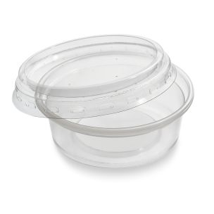 2oz Microwave Plastic Clear Cups with Lids-1x1000