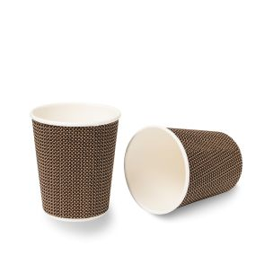 8oz VIP Ripple Wall Paper Hot Cup (Lid Ref CUP156) 1x500