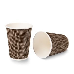 12oz VIP Ripple Wall Paper Hot Cup (Lid Ref CUP158) 1x500