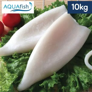 Aquafish IQF Cleaned U5 Squid Tubes (30%Glaze)-10x1kg