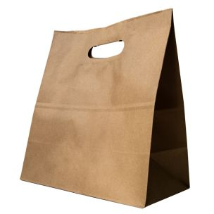 Large Brown Paper Carrier Bags with Punch out Handles (260x140x290mm) 1x250