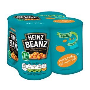 Heinz Baked Beans In Tomato Sauce 4x415g