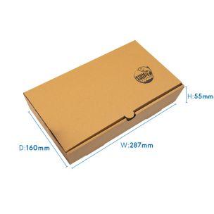 "10"" Kraft Cardboard Fish & Chips Boxes (290x50x160mm) 1x100"