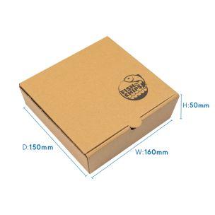 "5"" Kraft Cardboard Fish & Chips Boxes (160x50x150mm) 1x100"