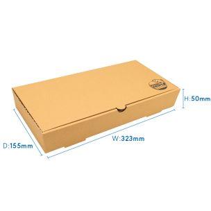 "12"" Kraft Cardboard Fish & Chips Boxes (325x50x155mm) 1x100"