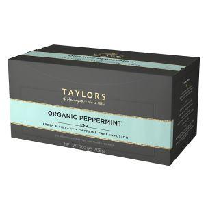 Organic Taylors of Harrogate Peppermint Tagged Tea Bags 1x100