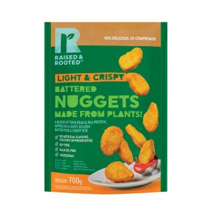 Raised & Rooted (Plant Based) Battered Nuggets(21g)-1x700g