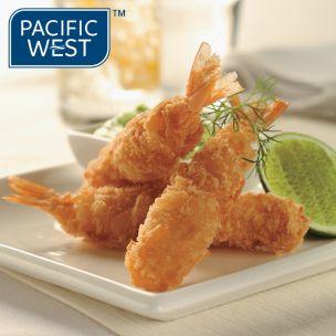 Pacific West Raw Panko Coated Prawns (21/25)-1x500g
