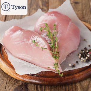 Tyson Frozen Halal Raw Brazilian Chicken Fillets (1.2-1.6% Salt,140g+)-1x15kg