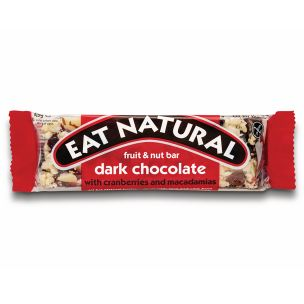 Eat Natural Dark Chocolate with Cranberries & Macadamias Bar-12x45g