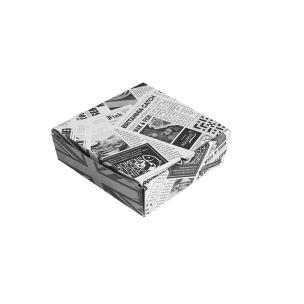 "5"" Newspaper Print Cardboard Fish & Chips Boxes (160x50x155mm) 1x100"