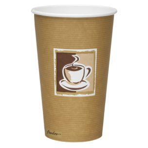 Caffe 16oz Paper Hot Cups (Lid ref CUP158) 1x500