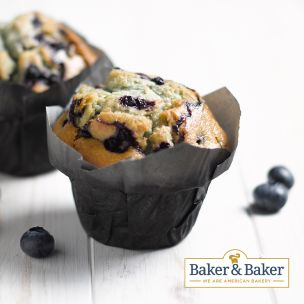 Baker & Baker Thaw & Serve Blueberry Muffins-24x125g