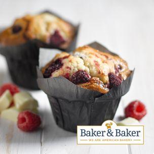 Baker & Baker Thaw & Serve Raspberry & White Chocolate Muffins-24x125g