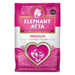 Elephant Atta Medium Chapatti Flour -1x25kg