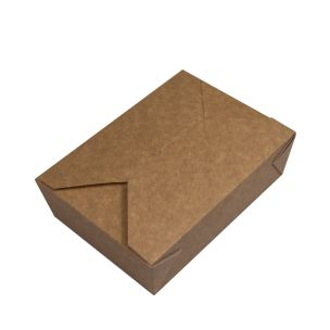 Large Kraft Takeaway Food Container (140x195x63mm) 1x200