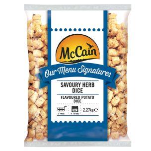 McCain Savoury Herb Diced Potatoes-4x2.27kg