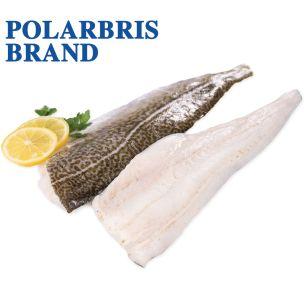 Polarbris (Atlantic) Skin-on (line caught) PBI Cod Fillets (8-16oz) 3x6.81kg