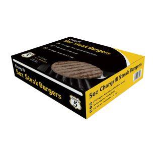Tender 5 Halal Chargrill Steak Burger (5oz) 42x140g