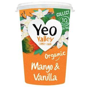Organic Yeo Valley Mango & Vanilla Yogurt- 12x80g