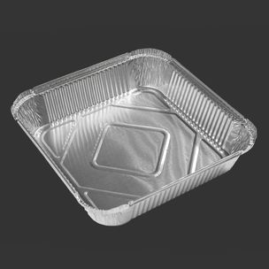 """Majestic No:9 Foil Containers (9""""x9""""x2"""")-1x200"""