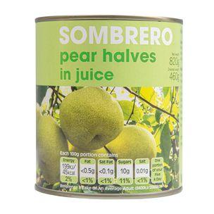 Sombrero Pear Halves in Juice 6x820g