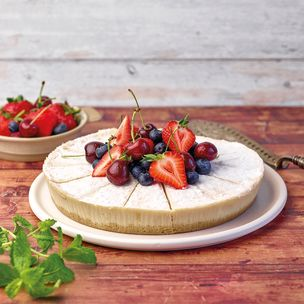 Menuserve Gluten Free Vegan Baked NY Style Cheesecake (Pre-Portioned)-1x14