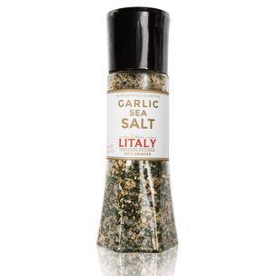 Litaly Garlic Sea Salt with Grinder 1x305g