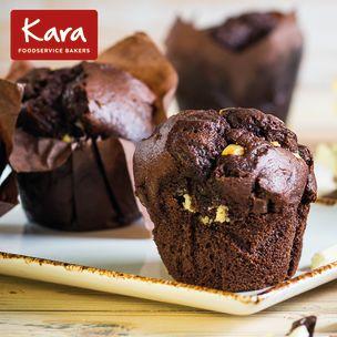 Kara Filled Triple Chocolate Tulip Muffins-24x115g